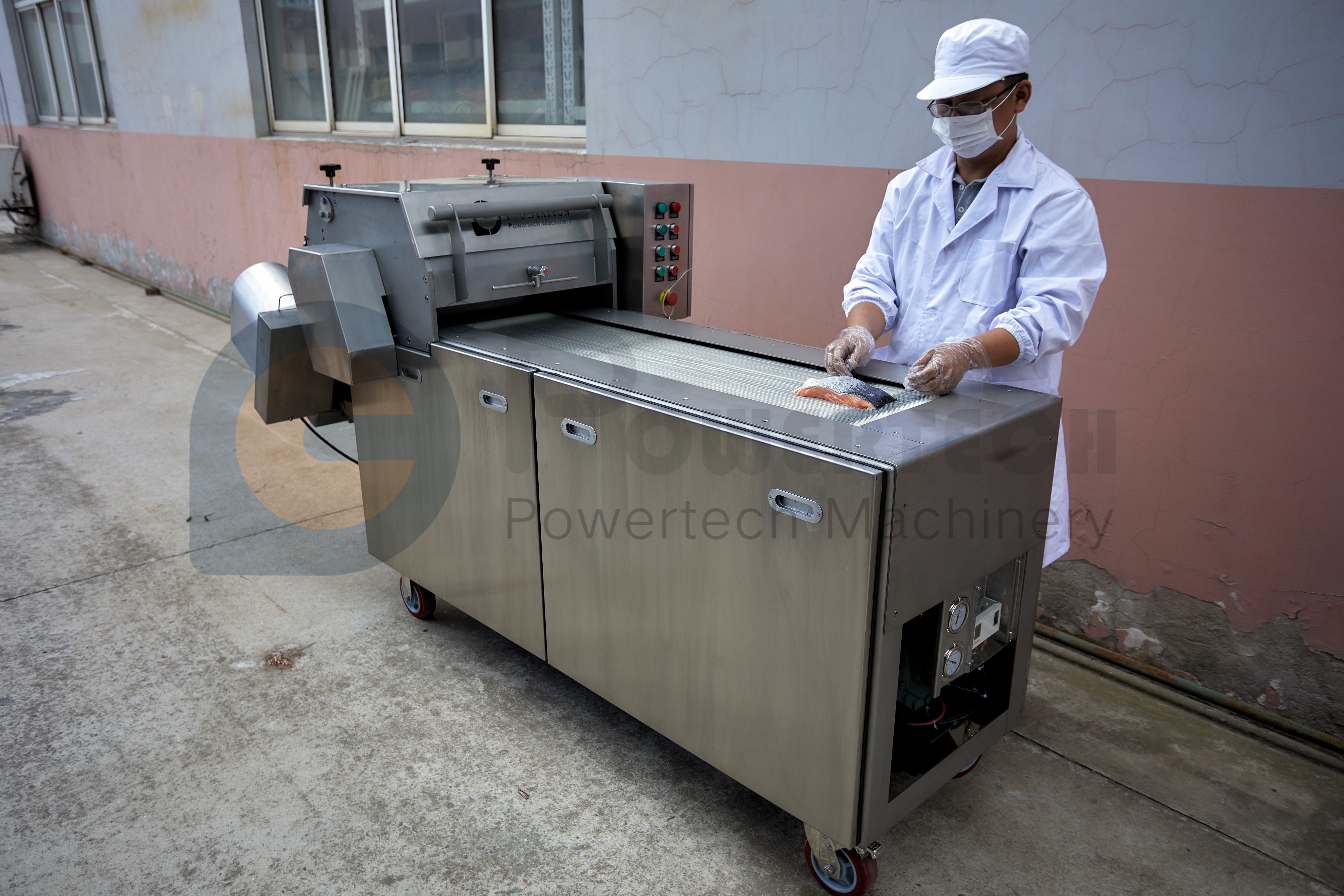 Lowest Operation Cost Automatic Fish Deep Skinning Machine