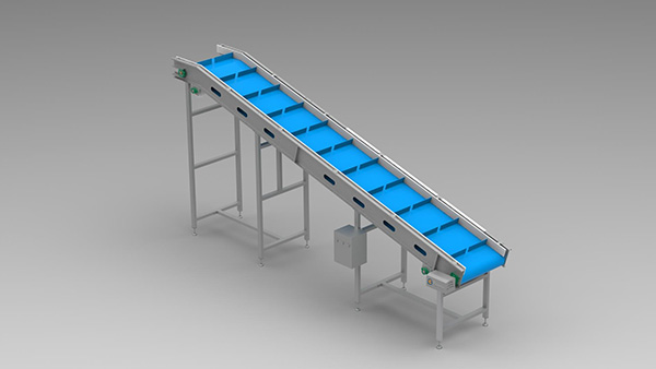 Lifting Plastic Mesh Belt Conveyor